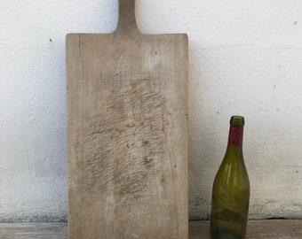 ANTIQUE VINTAGE FRENCH bread or chopping cutting board wood 1003187