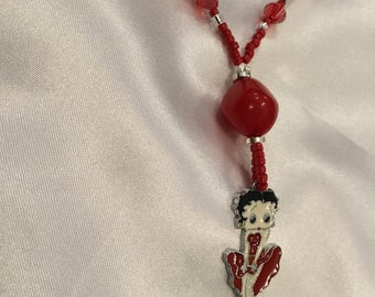 Betty boop beaded necklace