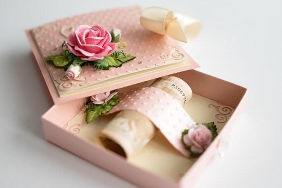 Card handmade card box wedding card box birthday card box like this item bookmarktalkfo Choice Image