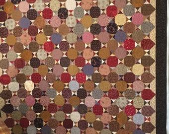 Brown Snowball quilt