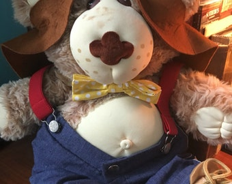 "Vintage 1983 1984  xavier roberts  Boone Furskins Beekeeper stuff bear doll 22"""
