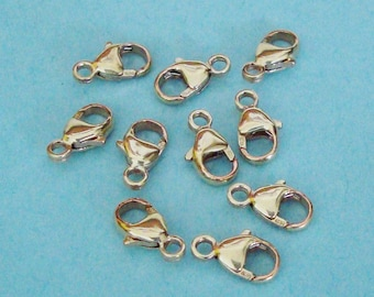 10 Pieces, Oval Lobster Claw Clasp, 14K Gold Filled, 5mm x 9mm, GFCL112