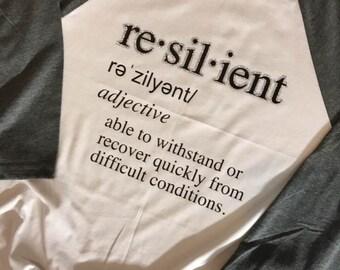 Resilient Raglan Ladies Shirt