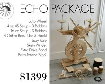 SpinOlution ECHO Spinning Wheel - PACKAGE DEAL - Choose Your Size
