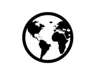 Earth Vinyl sticker