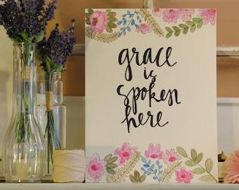 Grace Is Spoken Here