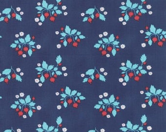 1/2 Yard GOOSEBERRY by Lella Boutique for Moda Fabrics Floral Patch Midnight