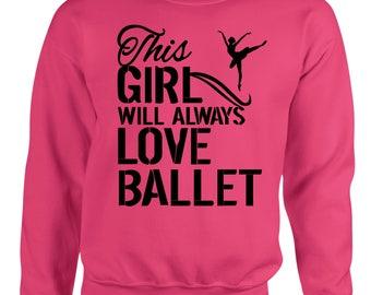 This Girl Ballet Womens Sweatshirt
