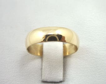 NEW Solid 14K Yellow Gold Plain Wedding Engagement Band/Ring 5mm, Sizes 3 - 15