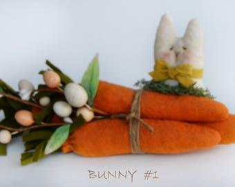 Spring Bunny - Easter Bunny - Cloth Bunny - Miniature Bunny