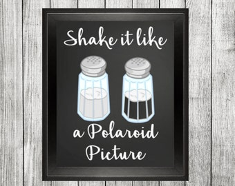 Shake it, funny quote print, kitchen print, kitchen wall art, chalkboard print, printable 8x10, home decor, kitchen decor