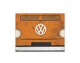 Volkswagen Bus Art Print - Fine Art Collage Print Illustration