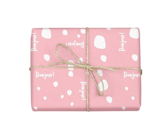 Wrapping Paper Sheets, Wrapping Paper Roll, Girlfriend Gift, Sheet Wrapping Paper, Pink Gift Wrap, Pink Wrapping Paper, Baby Shower Gift