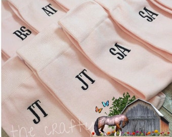 Blush Pink - Grooms Socks - Monogrammed Mens Dress Socks Groomsmen Gifts - wedding party gift - mens dress socks - wedding socks