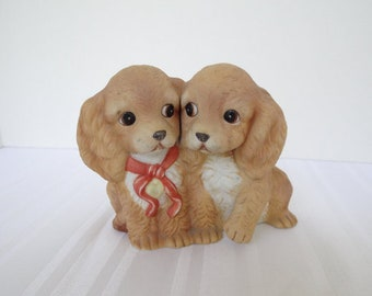Puppies, Homco Puppies, Dog Figurine, Puppy Figurine