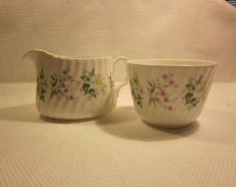 Minton Spring Valley creamer and sugar