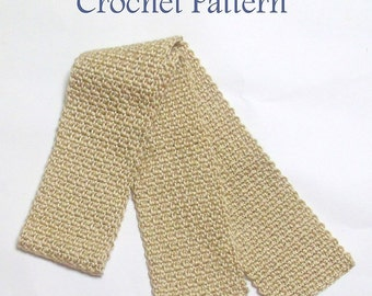 Woven Scarf Crochet Pattern, Instant Download, Pdf Crochet Pattern, Woven Scarf, Warm Accessories, Crochet Pattern,  Easy Crochet Patte