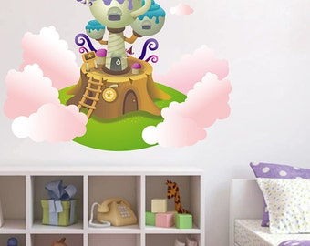 kcik6 Full Color fairy house cloud magic child's room