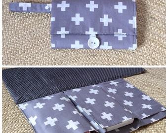 SALE Nappy Wallet / Diaper Clutch with built-in waterproof Change Mat