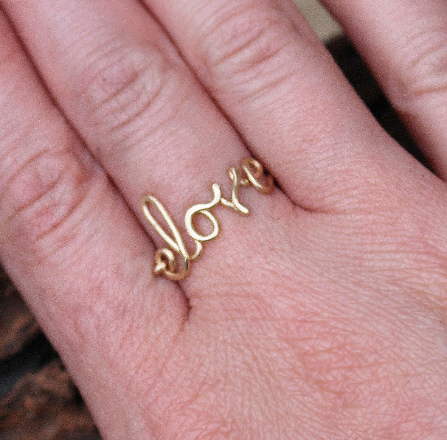 Love Ring. 14K Gold Filled. Wire Jewelry.