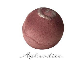 Aphrodite Goddess Bath Bomb | Unique Gift for Women | Best Friend Gift | Bath Fizzie | Handmade Spa Bath | I Love You Gift | Wine | Red