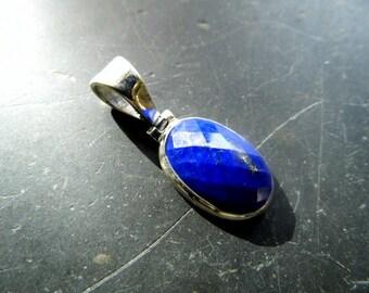 Pendants, lapis lazuli, Lapis, silver, blue, faceted, Sterling Silver