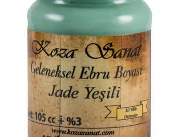 Ebru Marbling Paint Colors-Pigment Jade Green 105cc (Koza)
