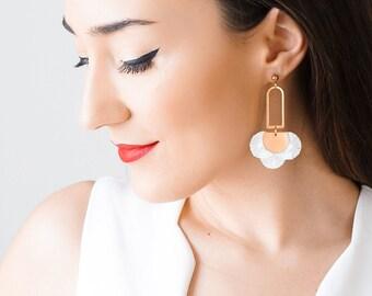 Statement Earrings Floral Earrings Boho Earrings Spring Trends Mom Gift Girlfriend Gift for Her Women Accessory Gift Inspirational/ LISA