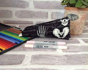 Anatomy triangle pencil case, Anatomy, Science student,  school supplies, back to school, gift for teacher, gift for science teacher