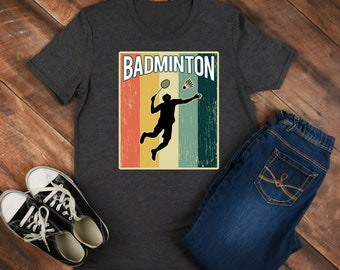 Badminton Retro Shirt/ Shirt / Tank Top / Hoodie / Retro Shirt / Vintage Shirt / Retro Tee / Retro Outfits / Retro Clothes