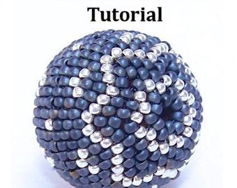 25mm Beaded Bead tutorial - Instant Download