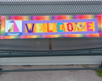 30 X 7 1/2 Quilted Welcome Banner