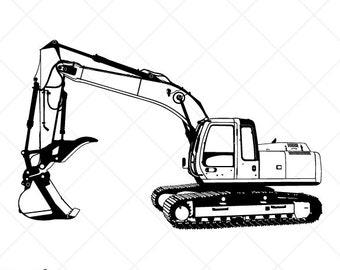 excavator clipart etsy rh etsy com cut ready clipart vinyl cut ready clipart