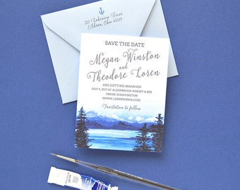Rustic Save The Date, Mountain Save The Date, Destination Wedding Save the Dates, Lake Wedding Save the Date Cards