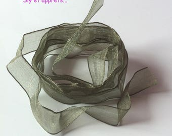 2 m green organza Ribbon