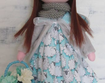 Tilda doll, textile doll, fabric doll, cloth doll, tilda, handmade doll, fabric doll handmade, baby doll, tilda fabric, gift for girl, doll