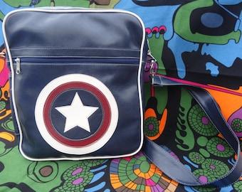 Shoulder bag - messenger bag - Retro bag - Star