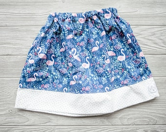 Cotton Circle Skirt | Take me to the Flamingo in size 2-3t | Infant, Toddler, Girls sizes available