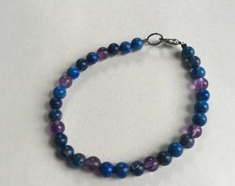 Blue and Purple Bracelet