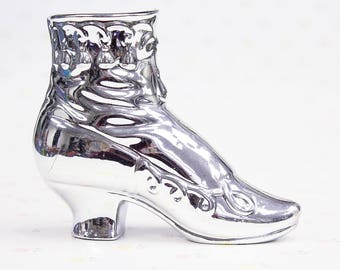 Attractive Vintage Silver Shoe Planter | Shoe Lover Gift | Gift For Shoe Lover |  Metallic Shoe