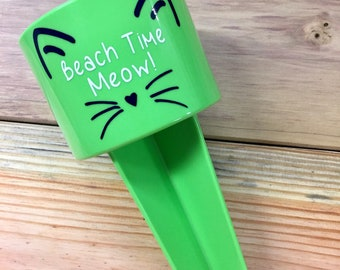 Beach Time Meow Beach Spiker ~ Cup Holder   ~
