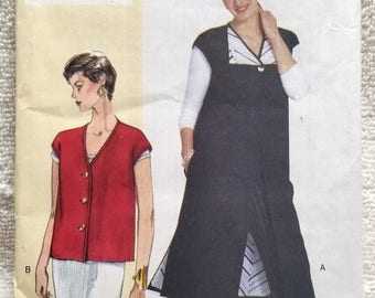 Vogue 7065, Today's Fit, Sandra Betzina, Misses Petite Vest Sewing Pattern, US Sizes 10, 12, 14, 16