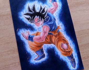 Goku ultra instinct etsy - Pintura instinto ...
