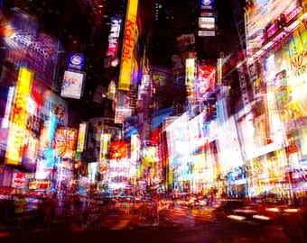 Color cityscape photography print - ' Night Trip 1 '
