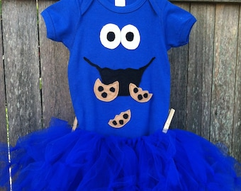 Cookie Monster Onesie and Petti Tutu
