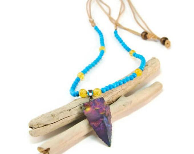 Boho Free Spirit * Statement Pendant Boho Necklace. Boho Jewelry. Boho Style. Bohemian Necklace. Ideas for her. Citrine. Turquoise. Agate