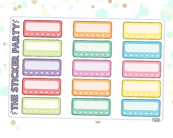 Daily Habit Tracker Planner Stickers