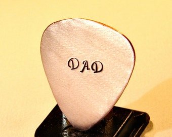 Guitar Pick Handmade for Dad or Fathers Day in Copper - GP712