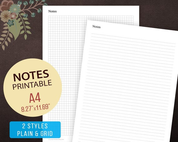 notes page template