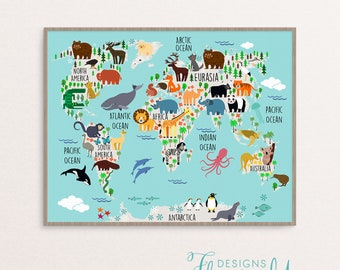 World map print nursery world map print art poster 1879 nursery decor animal map digital print nursery world map baby room art baby shower gift digital gumiabroncs Image collections